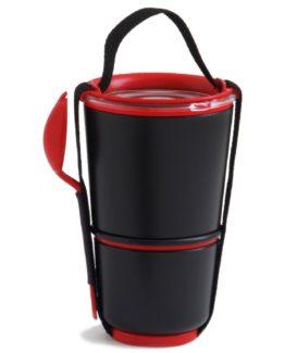 BLACK-BLUM box na jídlo Lunch Pot černo-červený