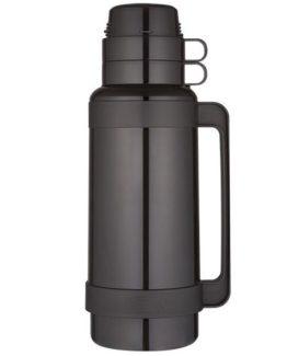 Thermos skleněná termoska černá 1800 ml