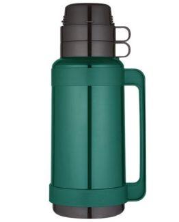 Thermos zelená vakuově izolovaná termoska se skleněnou vložkou 1000 ml.
